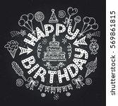 poster for the birthday... | Shutterstock .eps vector #569861815