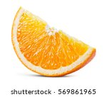 orange fruit. piece isolated on ...