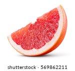 Grapefruit Isolated On White...