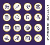 medicine web icons set | Shutterstock .eps vector #569862775