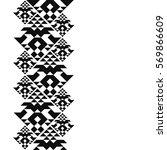 tattoo belt. tribal card in... | Shutterstock .eps vector #569866609