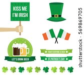 set  collection of st.patrick's ... | Shutterstock .eps vector #569869705