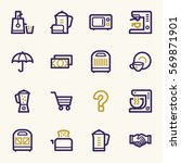 kitchen appliances web icons | Shutterstock .eps vector #569871901