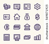 money web icons | Shutterstock .eps vector #569871925