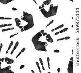 seamless black and white vector ... | Shutterstock .eps vector #569875111