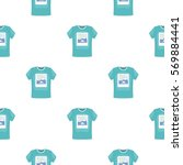 t shirt icon in cartoon style... | Shutterstock .eps vector #569884441