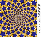 optical motion illusion... | Shutterstock .eps vector #569888359