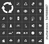 ecology and alternative energy... | Shutterstock .eps vector #569888887