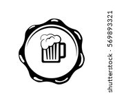 beer and brewery concept icon... | Shutterstock .eps vector #569893321