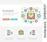 flat line business concept web... | Shutterstock .eps vector #569894527