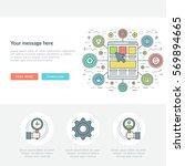flat line business concept web... | Shutterstock .eps vector #569894665