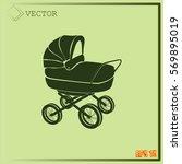 pram icon   Shutterstock .eps vector #569895019