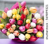 Colorful Bouquet Of White  Pink ...