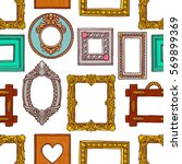 cute seamless pattern of a... | Shutterstock .eps vector #569899369