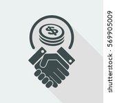 business agreement   dollars | Shutterstock .eps vector #569905009