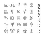 thin line icons   ecology ... | Shutterstock .eps vector #569905309