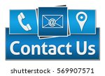 contact us blue squares on top  | Shutterstock . vector #569907571