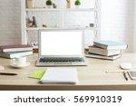 front view of creative designer ... | Shutterstock . vector #569910319