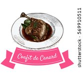 confit de canard colorful... | Shutterstock .eps vector #569910511
