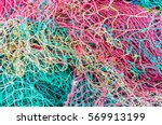 Colorful Fishing Net  Close Up...
