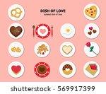 illustration vector set of icon ... | Shutterstock .eps vector #569917399