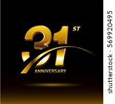 31 years golden anniversary...   Shutterstock .eps vector #569920495