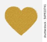gold glitter handmade heart... | Shutterstock .eps vector #569923741