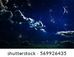 background night sky with stars ... | Shutterstock . vector #569926435