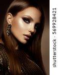 glamour portrait of beautiful... | Shutterstock . vector #569928421