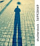 Human Person Shadow With...
