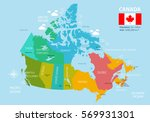 political map of canada.... | Shutterstock .eps vector #569931301