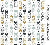 seamless hand drawn geometric... | Shutterstock .eps vector #569934619