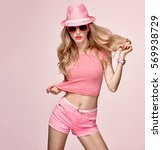 fashion model sexy girl.... | Shutterstock . vector #569938729