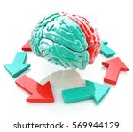 left brain  right brain.... | Shutterstock . vector #569944129
