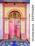 traditional old painted door in ... | Shutterstock . vector #569944684