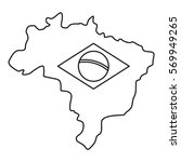 map of brasil icon. outline...