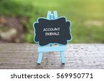"Small photo of ""Account Payable"" word on blackboard with easel on wooden chair with bokeh background. Selective focus with shallow depth of field."