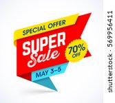 super sale special offer banner ... | Shutterstock .eps vector #569956411