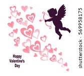 valentines day card design.... | Shutterstock .eps vector #569958175