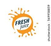 juice splash vector sign | Shutterstock .eps vector #569958859