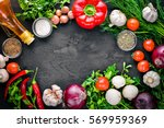 fresh vegetables  chili  onion  ... | Shutterstock . vector #569959369