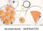 cornbread muffins  peace of... | Shutterstock . vector #569964745
