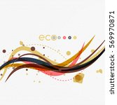 vector abstract floral waves... | Shutterstock .eps vector #569970871