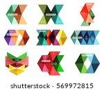 vector blank infographic arrow... | Shutterstock .eps vector #569972815