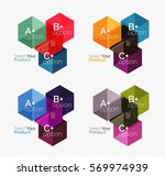 vector set of geometric paper... | Shutterstock .eps vector #569974939