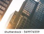 modern office buildings.... | Shutterstock . vector #569976559