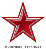 Vector Red Star. Available Eps...
