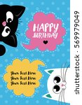 cute creative cards templates... | Shutterstock .eps vector #569979049