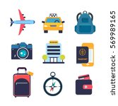 set of color flat icons for... | Shutterstock .eps vector #569989165