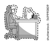 businessman cartoon icon | Shutterstock .eps vector #569990809